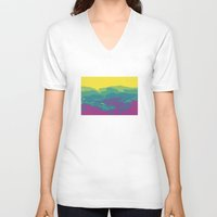 tennessee V-neck T-shirts featuring The Mountains of Tennessee by Kristin H. Rommel