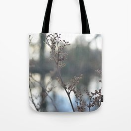 Winter Cow Parsley, Fine Art Photographic Print. Home Decor Tote Bag