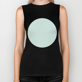 Mint Passion Thalertupfen White Pōlka Round Dots Pattern Pastels Biker Tank
