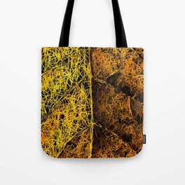 rotten yellow leaf texture Tote Bag