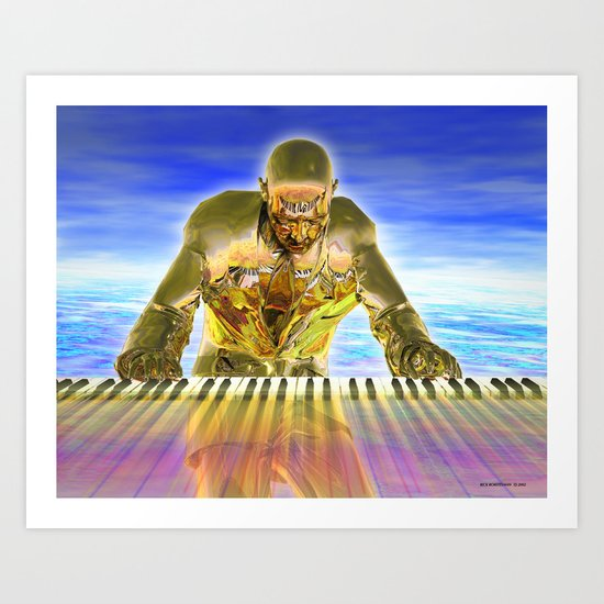 Keyboard Magic Art Print