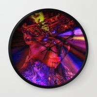 "princess Wall Clocks featuring "" Princess "" by shiva camille"