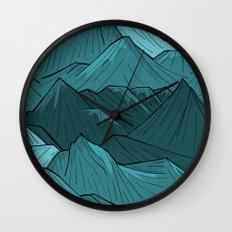 The Turquoise Mounts Wall Clock