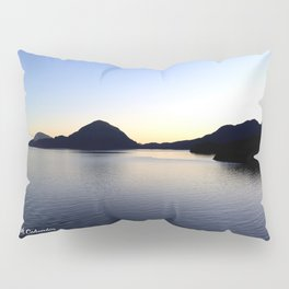 Salish Sea Sunset - Canada - With Text Pillow Sham