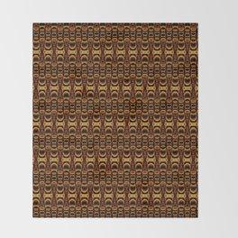 Dividers 07 in Orange Brown over Black Throw Blanket