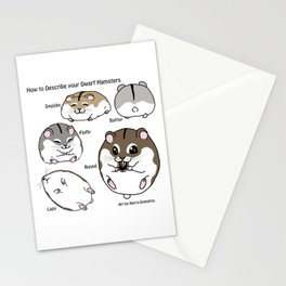 How to Describe your Dwarf Hamsters Stationery Cards