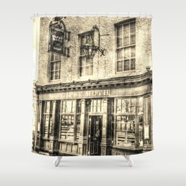 The Gipsy Moth Pub Greenwich Shower Curtain