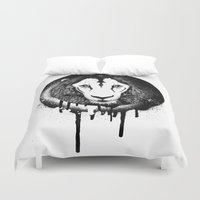 grafitti Duvet Covers featuring Hodari Grafitti by a little Piece of Pie
