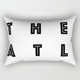 The ATL Atlanta City Typography Rectangular Pillow