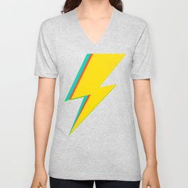 Lightning bolt (yellow Version) Unisex V-Neck