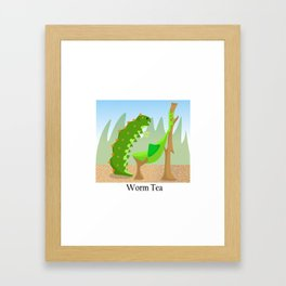 Worm Tea Framed Art Print