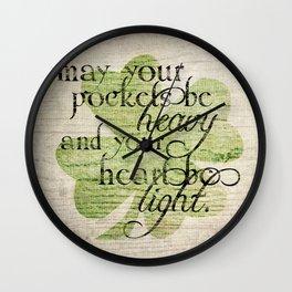 An Irish Blessing  Wall Clock