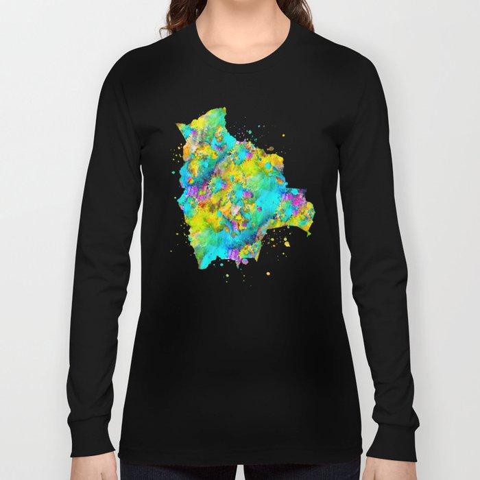Bolivia Map Long Sleeve T-shirt