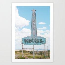 Stardust Motel Marfa, Texas Art Print