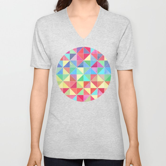 Rainbow Prisms Unisex V-Neck