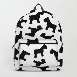 Schnauzer - Simple Dog Silhouette Backpack