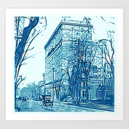 Nice City Scape 19th Ritz Art Print