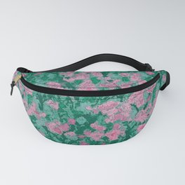 Pink Flowers Abstract Watecolor Fanny Pack