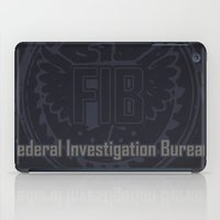 grand theft auto iPad Cases featuring Grand Theft Auto V - FIB Federal Investigation Bureau by KeenaKorn