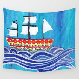 Let LOVE be your Anchor & HOPE be your Sail Wall Tapestry