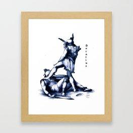 Gladiator Fighting Framed Art Print