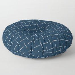 Airplane Propeller Blueprint Design white on blue Floor Pillow