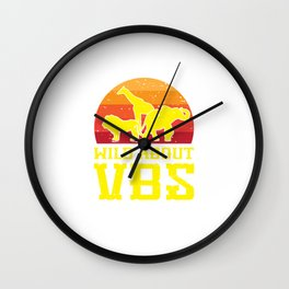 Wild About VBS Animals Funny Christian Church Vacation Humor Pun Design Wall Clock