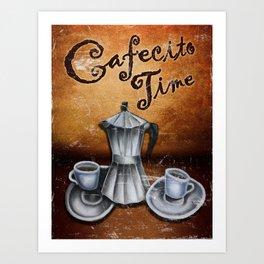 Cafecito time. Cuban Coffee Art Print