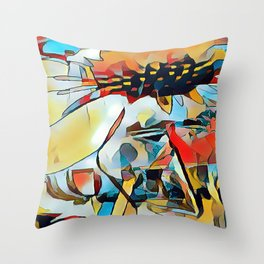 Daisy One Abstract Throw Pillow
