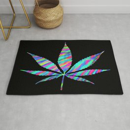Weed : High Time Colorful Psychedelic Rug