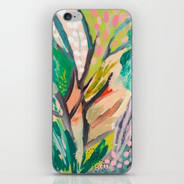tree and leaf : abstract painting iPhone Skin