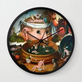 "Hieronymus Bosch (school) ""The Vision of Tnugdalus"" Wall Clock"