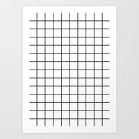grid Art Prints featuring GRID by Anna Lindner