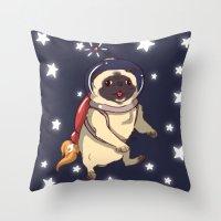 interstellar Throw Pillows featuring Interstellar by Lixxie Berry Illustration