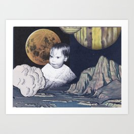 outer space kid Art Print