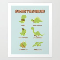 DANDYSAURUS Art Print