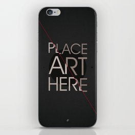 The Art Placeholder iPhone Skin