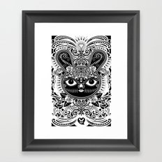 Day Of The Dead Bunny Celebration Framed Art Print