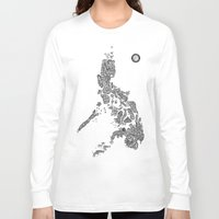 philippines Long Sleeve T-shirts featuring Paranormal Philippines (white) by Rev Cruz