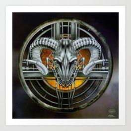 """""""Astrological Mechanism - Aries"""" Art Print"""