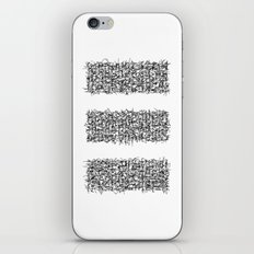 tri white iPhone & iPod Skin