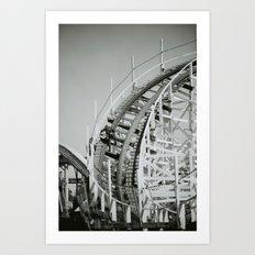 Rollercoaster Maintenance Art Print