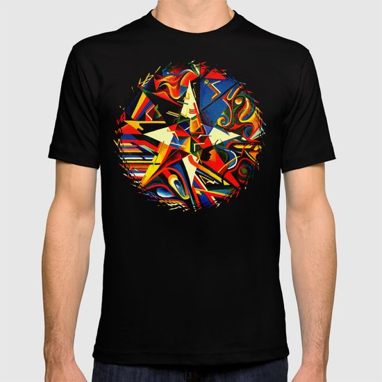intermixing Color Star  T-shirt