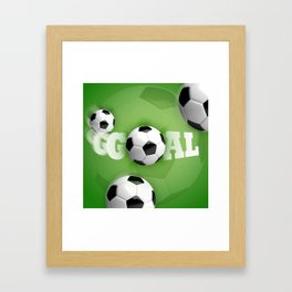 Soccer Ball Football Goal Framed Art Print