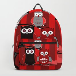 Red Owls Backpack