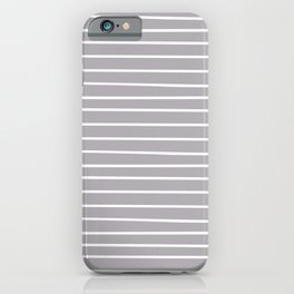 Minimal Stripes, Winter Pattern, Gray and White iPhone Case