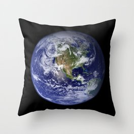 Planet Earth - The Blue Marble From Space Throw Pillow