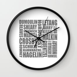 penguins 17-18 roster Wall Clock