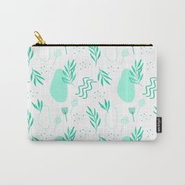 Green Abstract Botanical Carry-All Pouch