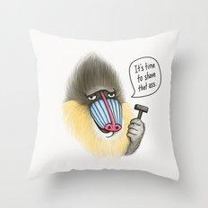 Shave that Ass Throw Pillow